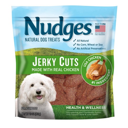 Nudges® Heath & Wellness Dog Treats - Chicken Jerky Cuts - 16oz - image 1 of 3