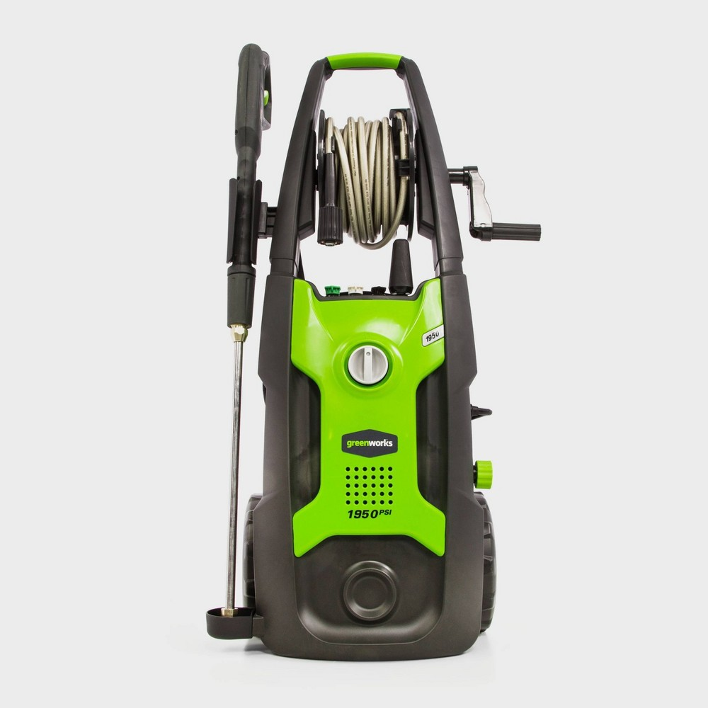 GreenWorks Vertical Pressure Washer Includes Hose and Nozzle Exotic Green