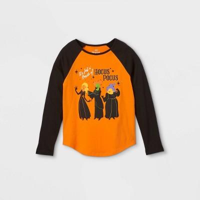 Girls' Disney Hocus Pocus Long Sleeve Graphic T-Shirt - Orange