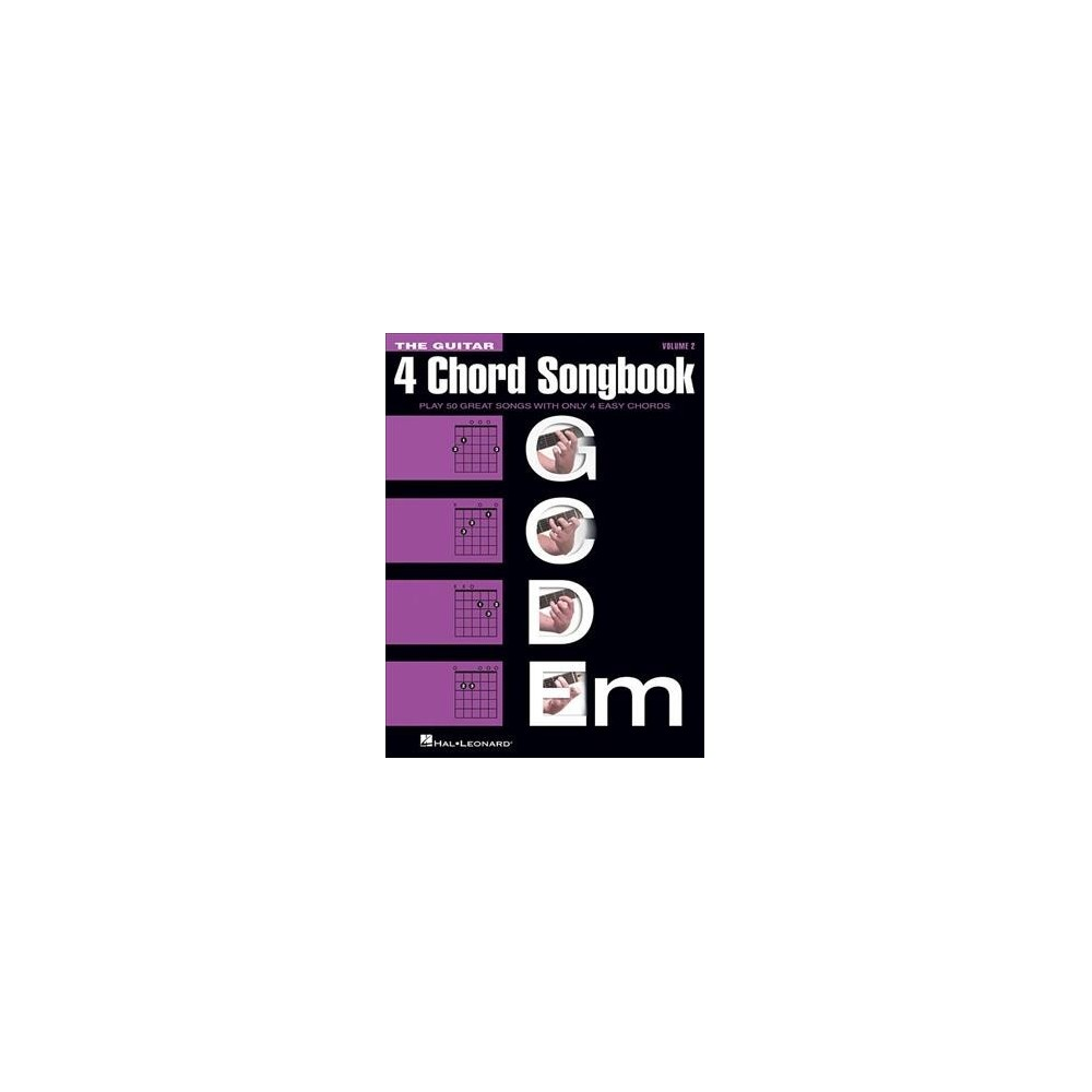 Guitar 4 Chord Songbook : G C D Em - (Paperback)