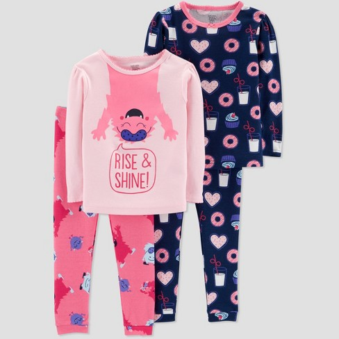 53d9d7aab9ba Baby Girls  4pc Monster Pajama Set - Just One You® Made By Carter s ...