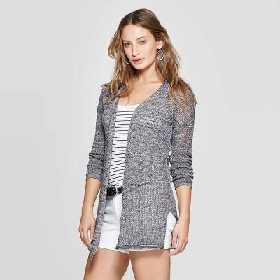 Women's Long Sleeve Open Stitch Open Layering - Universal Thread™ Gray M