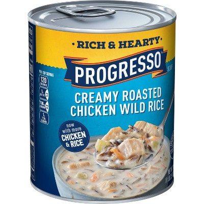 Progresso Rich & Hearty Creamy Roasted Chicken Wild Rice Soup - 18.5oz
