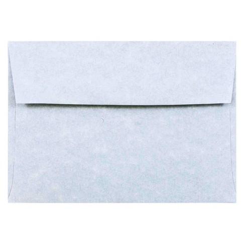 JAM Paper® Envelopes 4Bar A1 50ct Parchment - Blue - image 1 of 3