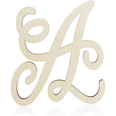 Unfinished Wood Monogram Letter A (13 in.)