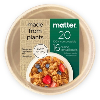 Matter 100% Compostable Fiber Bowls - 20ct