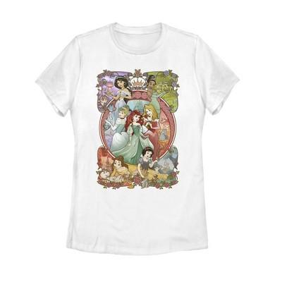 Women's Disney Princesses Vintage Collage T-Shirt