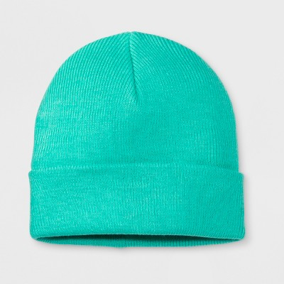 5081288ac1a Girls  Solid Cuffed Beanie – Cat   Jack™ Green One Size – Target ...