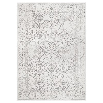 Off White Solid Loomed Area Rug - (4'x6')- nuLOOM