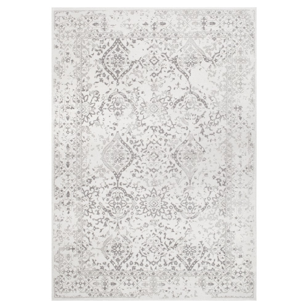 Off White Solid Loomed Area Rug - (9'x12') - nuLOOM, Ivory