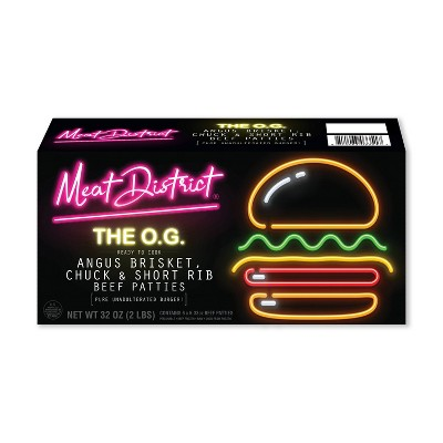 Meat District the O.G. Angus Beef Patties - Frozen - 32oz