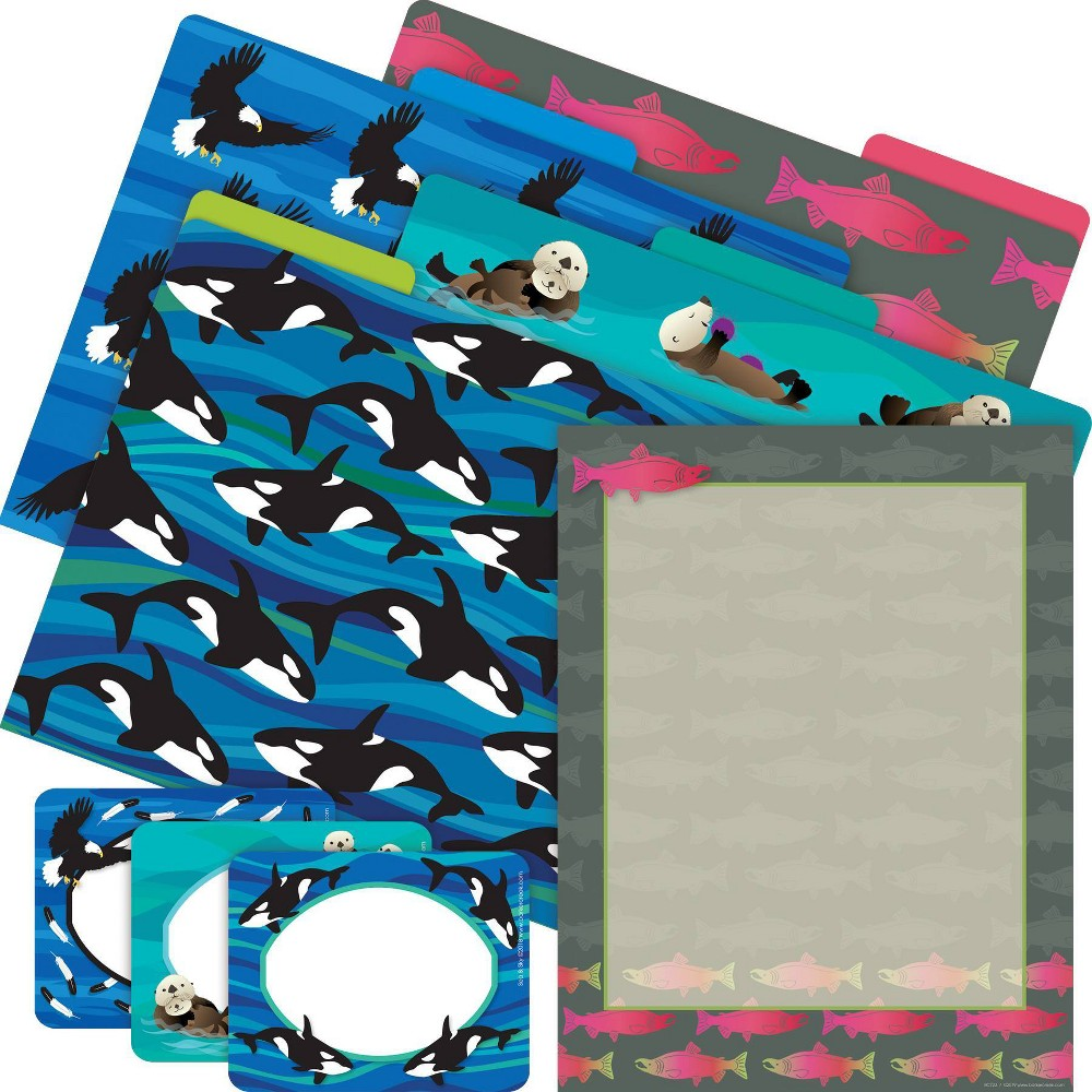 Barker Creek Get Organized File Folders Salmon