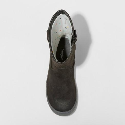1cd4b5a951fc Girls  Magda Microsuede Tall Fashion Boots - Cat   Jack™ Black 3 ...