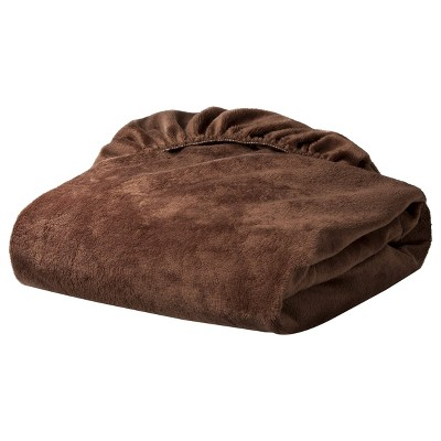 TL Care Heavenly Soft Chenille Fitted Crib Sheet - Brown