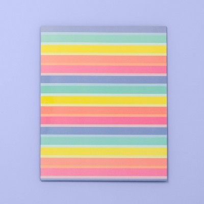 Rainbow Striped 2 Pocket Paper Folder   More Than Magic by More Than Magic