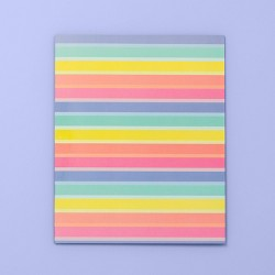 Rainbow Striped 2 Pocket Paper Folder - More Than Magic™