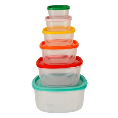 Plastic Food Storage Containers - Set of 6
