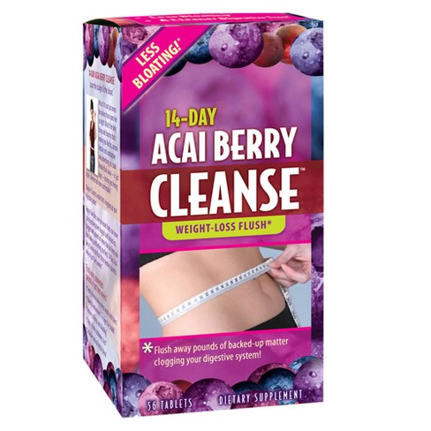 Applied Nutrition 14-Day Cleanse Dietary Supplement Tablets - Acai Berry - 56ct - image 1 of 2