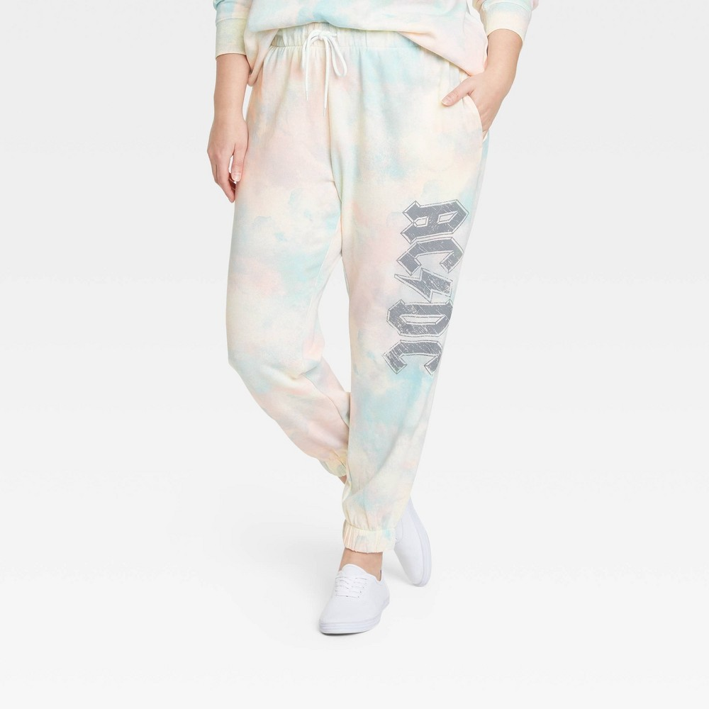 Women 39 S Ac Dc Plus Size Washed Graphic Jogger Pants 3x