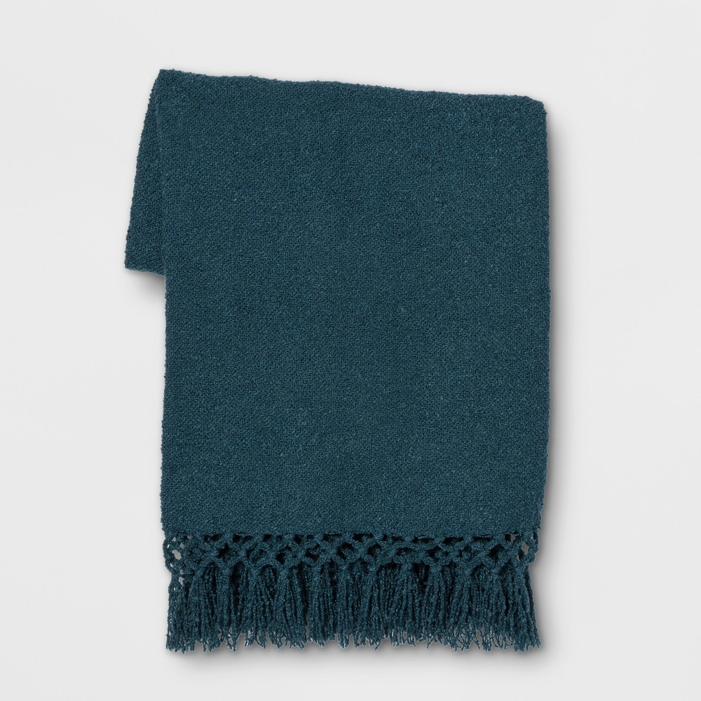 Throw Blanket Solid Teal (Blue) - Opalhouse