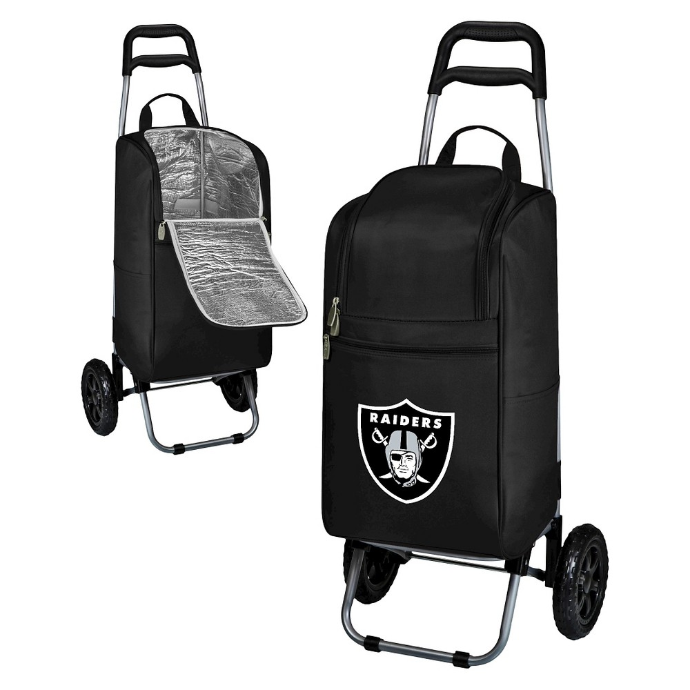 Oakland Raiders Cart Cooler By Picnic Time Black