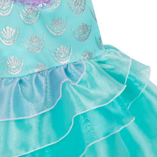 Girl's Little Mermaid Ariel Costume - 5/6 - Disney store, Women's, Blue image number null