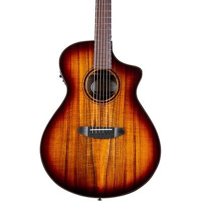Breedlove Pursuit Exotic S CE Koa-Koa Concert Acoustic-Electric Guitar Edge Burst