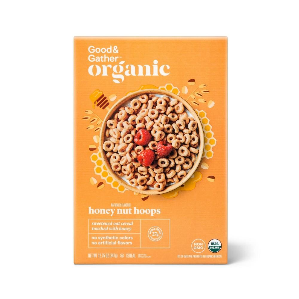 Organic Honey Nut Hoops 12 25oz Good 38 Gather 8482