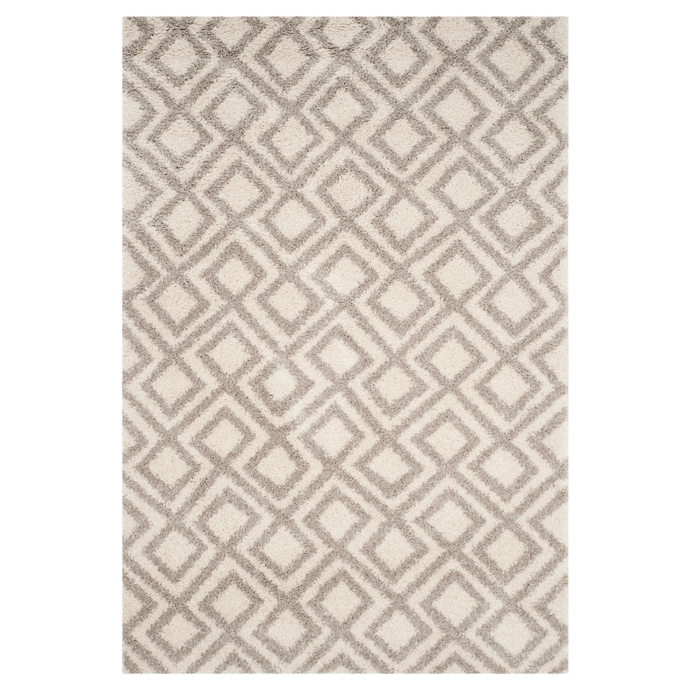 Ivory/Beige Abstract Loomed Area Rug - (4'x6') - Safavieh, White