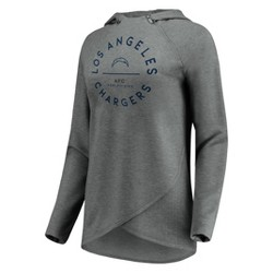 NFL Los Angeles Chargers Women's Victory Circle Gray Lightweight Hoodie
