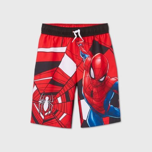 Boys' Spider-Man Swim Trunks - Red - image 1 of 2
