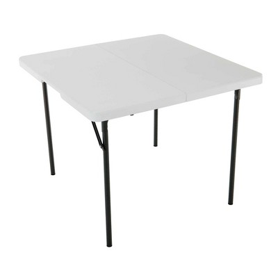 Square Fold In Half Card Table White - Lifetime