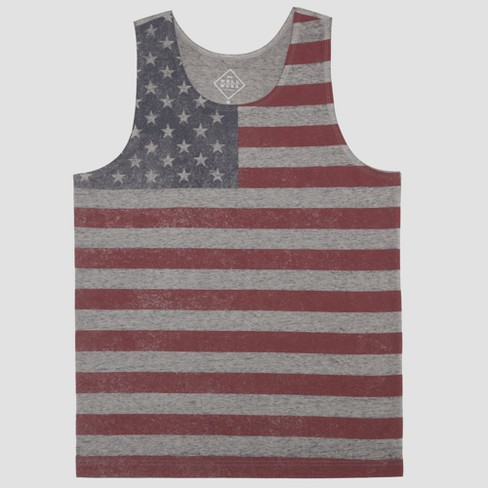 3872699982c Well Worn Men s Americana Flag Tank Top - Fancy Heather   Target
