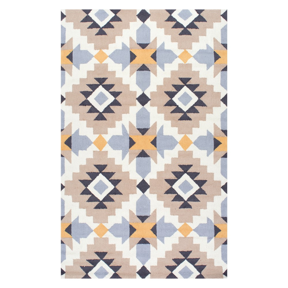 4'X6' Solid Area Rug Yellow - nuLOOM