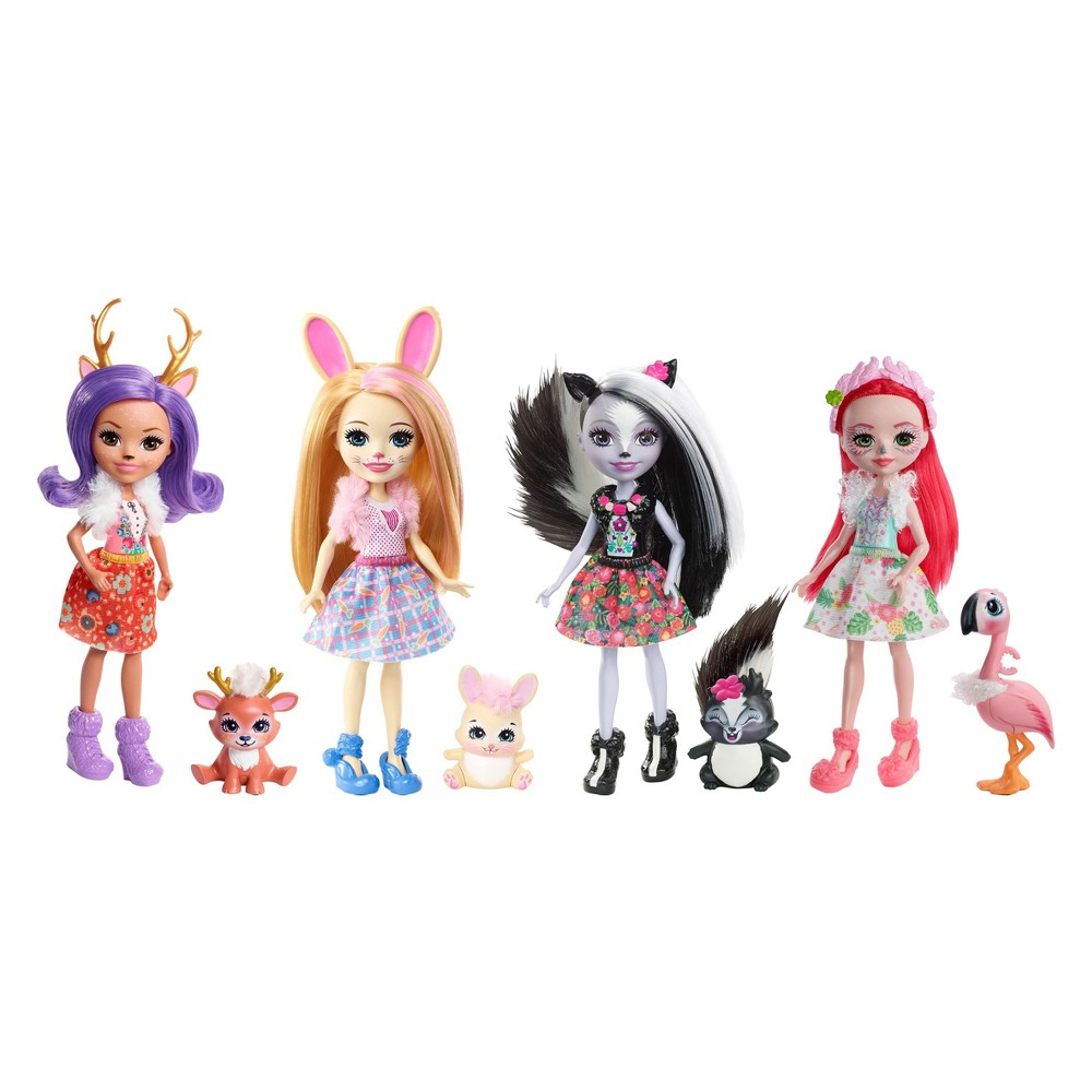 Enchantimals Happy Friends Collection Doll 4pk