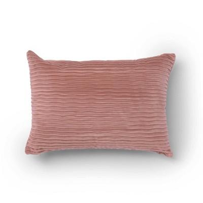 """14""""x20"""" Oza Velvet Lumbar Throw Pillow - Sure Fit"""