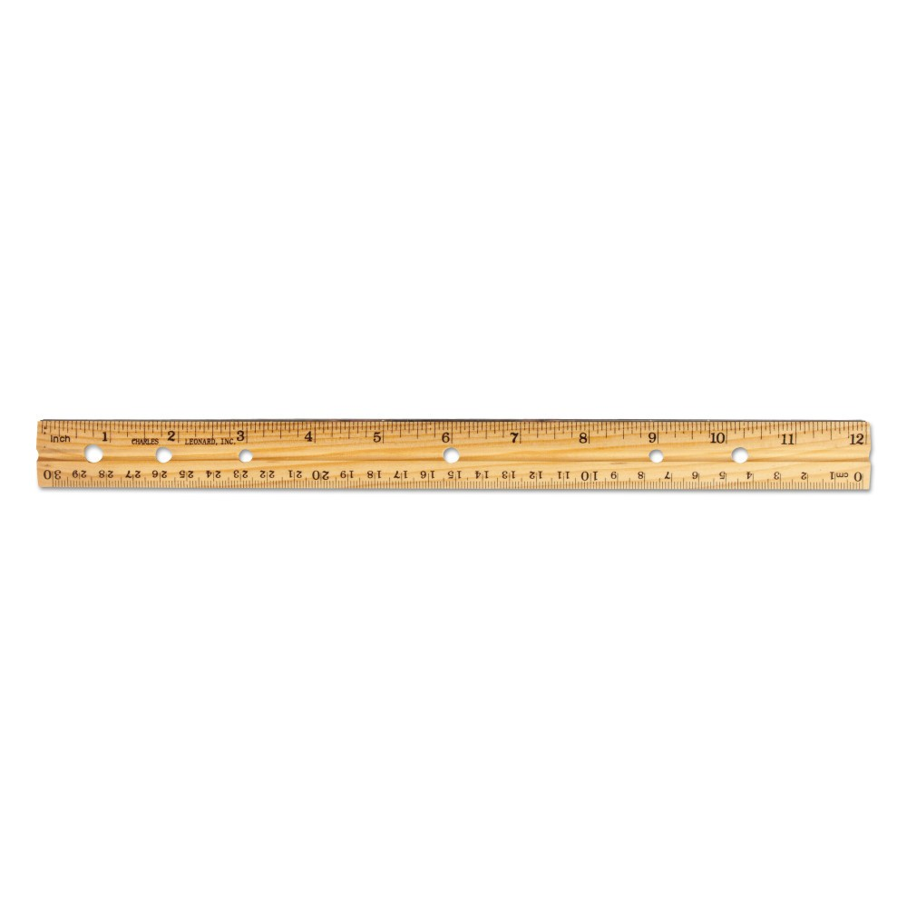"Image of ""36ct Beveled Ruler with Metal Edge 12"""" - Charles Leonard Inc."""
