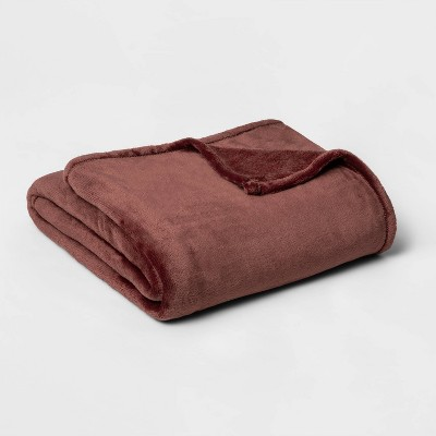 Full/Queen Microplush Bed Blanket Berry - Threshold™