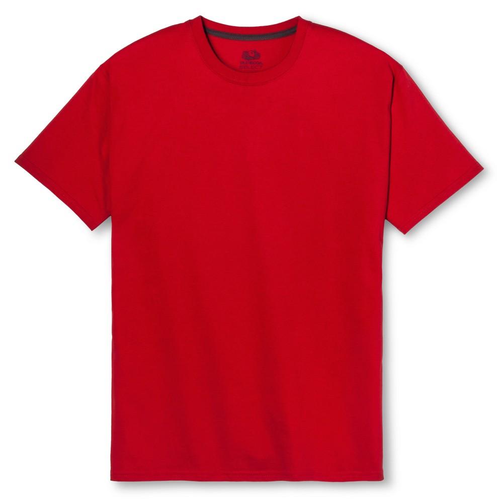 Fruit of the Loom Select Men's Short Sleeve T-Shirt - True Red, Size: Medium