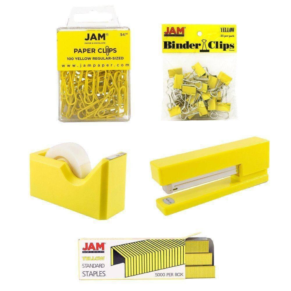 Image of JAM Paper 5pk Office Starter Kit - Yellow