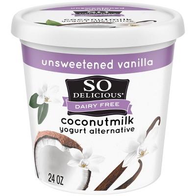 So Delicious Dairy-Free Unsweetened Vanilla CoconutMilk Yogurt Alternative - 24oz