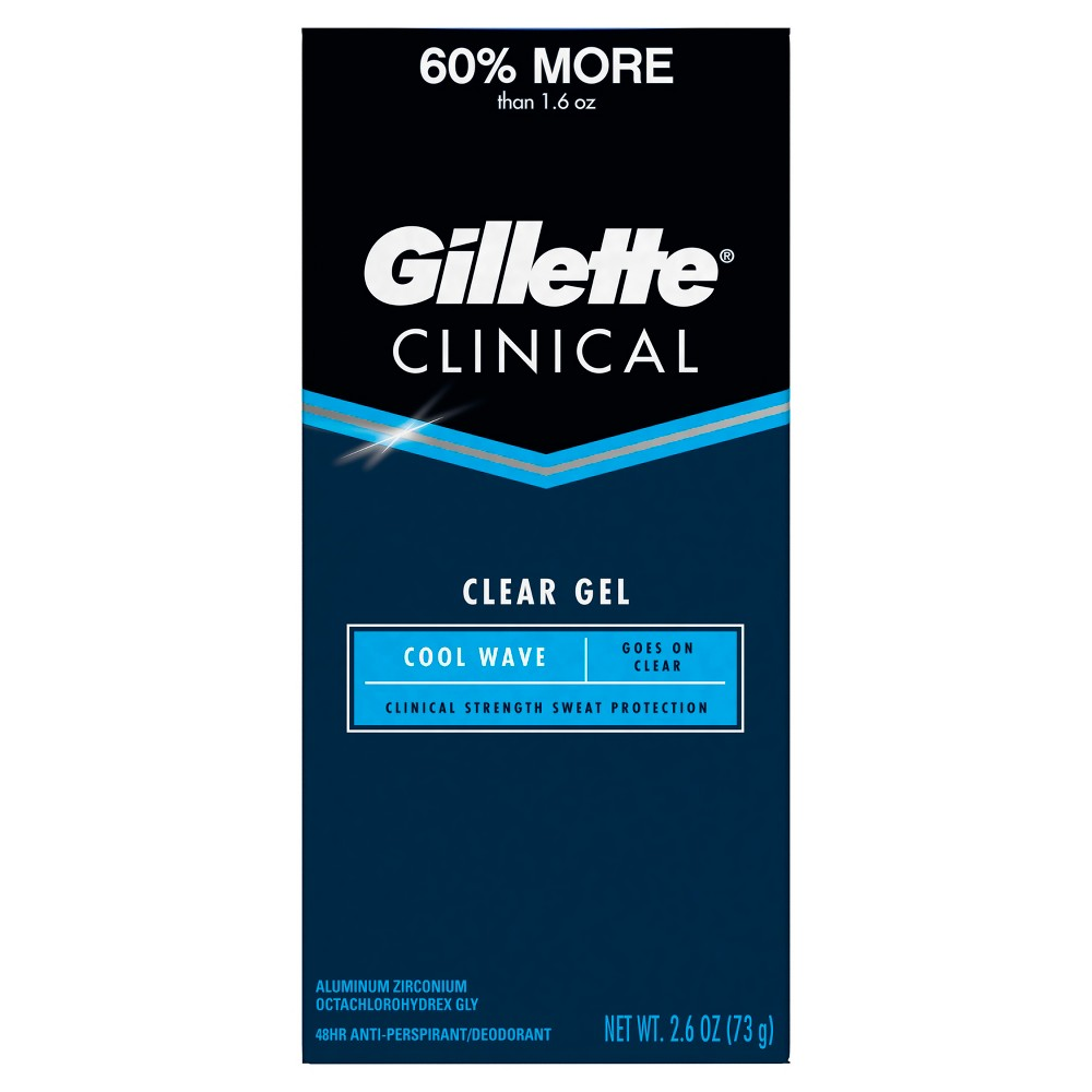Image of Gillette Clinical Cool Wave Clear Gel Antiperspirant and Deodorant - 2.6oz