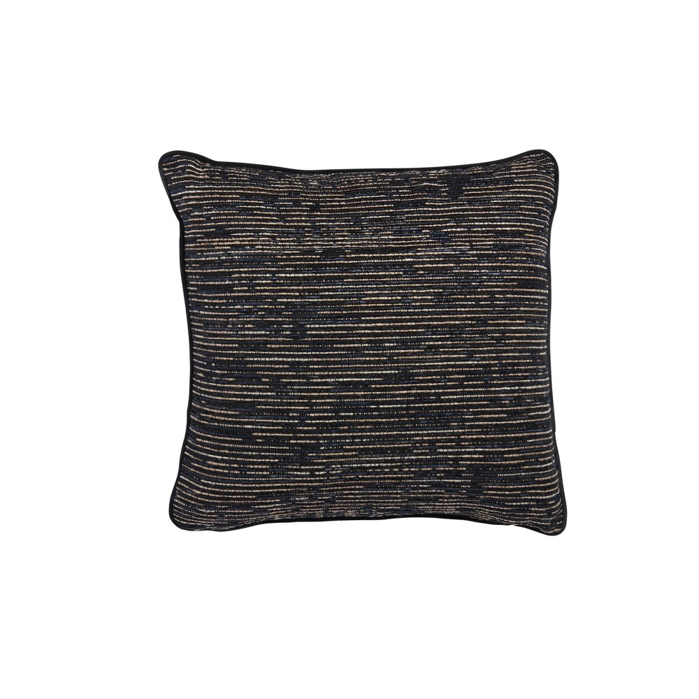 18 34 X18 34 Gino Square Throw Pillow Black Sure Fit