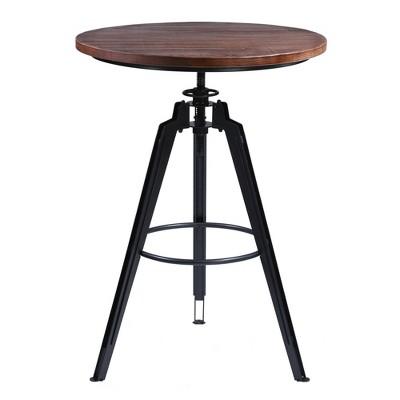 Barbour Industrial Pub Table Gray/Ash - Armen Living