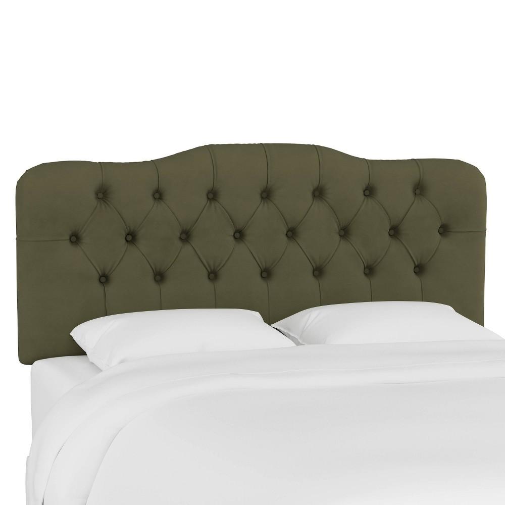 Queen Tufted Headboard Velvet Loden Skyline Furniture