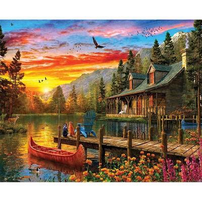Springbok Cabin Evening Sunset Jigsaw Puzzle 1000pc