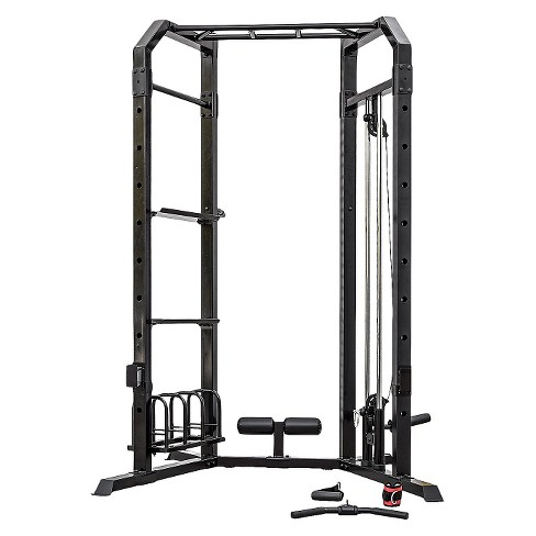 Marcy Home Gym Cage System with Pulley and Weight Racks (SM-3551)