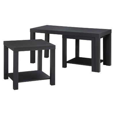 Red Canon Coffee Table and End Table Set - Black - Room & Joy