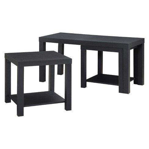 Red Canon Coffee Table and End Table Set - Black - Room & Joy - image 1 of 4