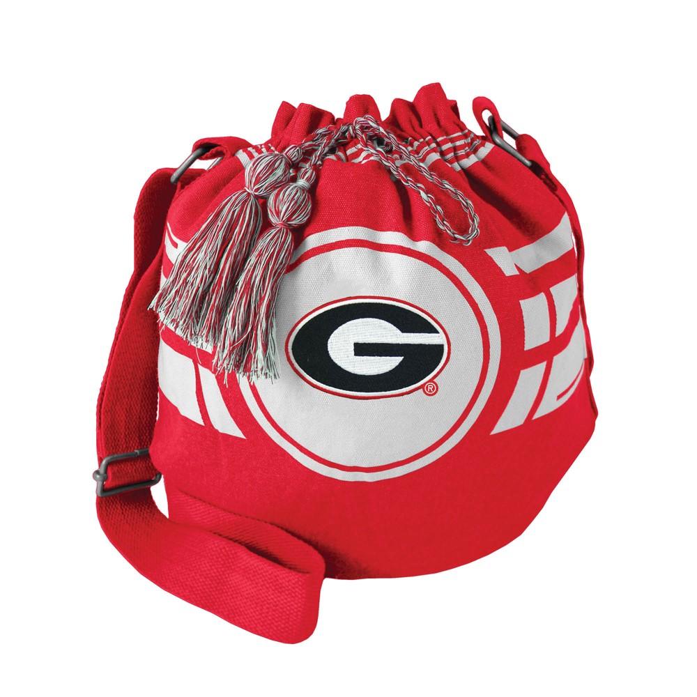 NCAA Georgia Bulldogs Little Earth Ripple Drawstring Bucket Bag, Adult Unisex